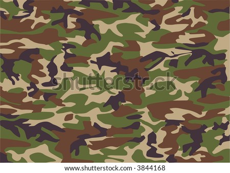 Camouflage pattern - stock vector