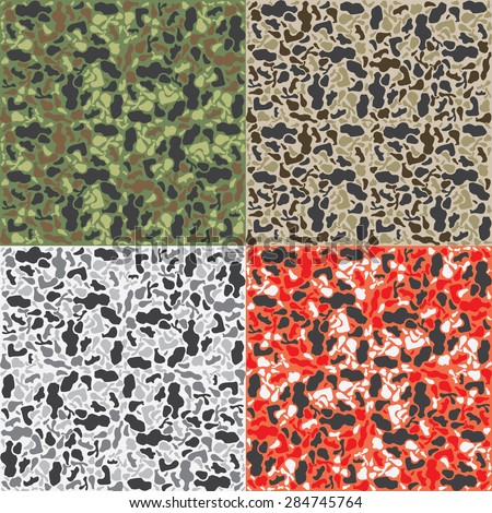 Camouflage pattern background - stock vector