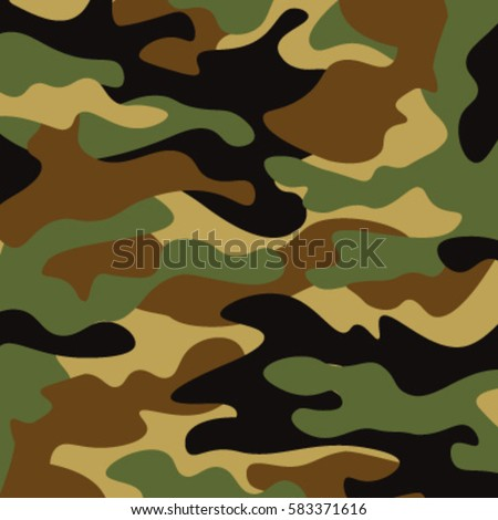 Camouflage Pattern Background Classic Clothing Style Stock