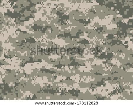 Camouflage pixels - stock vector