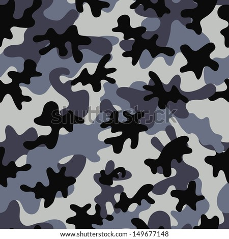 Camouflage Seamless Pattern. Can be used for wallpaper, pattern fills, web page background, surface textures. - stock vector