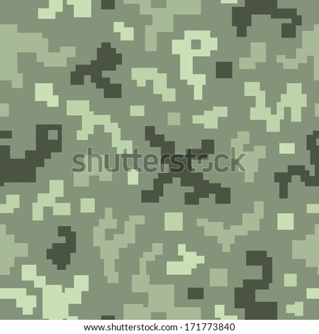 Camouflage seamless pattern. Endless pattern with flowers can be used for web design, wallpaper, printing on the surface paper. - stock vector