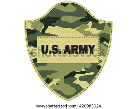 Camouflage shields U.S. Army.Vector - stock vector