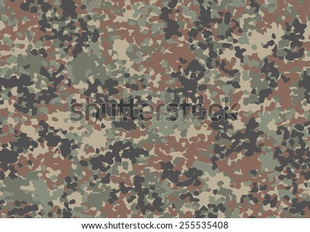 Camouflage 'splotchy' seamless pattern - stock vector