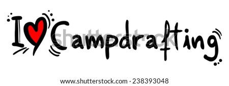 Campdrafting love - stock vector