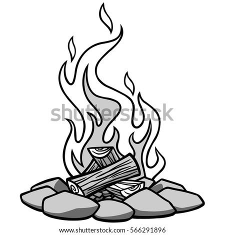 Campfire Illustration Stock Vector Royalty Free 566291896