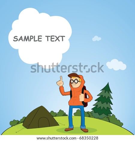 Camping - stock vector