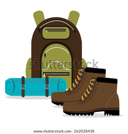 Camping design over white background, vector illustration.