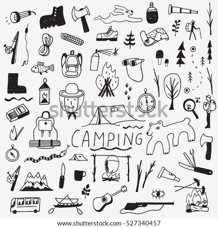 Camping - doodles collection