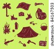 Camping Set - stock vector