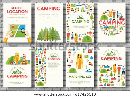Ecology information cards set ecological template stock vector hiking template of flyear magazines posters book cover pronofoot35fo Gallery