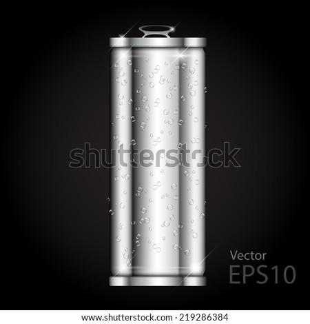Can aluminium blank realistic. vector illustration. - stock vector