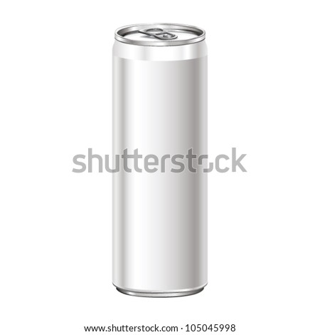 Can aluminum vector. - stock vector