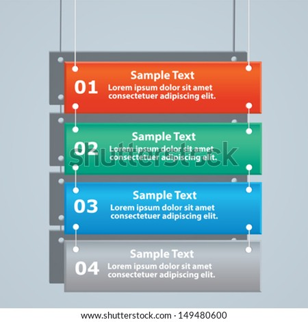 Can be used as the site menu as a brochure for infographics, business brochure, presentation. - stock vector