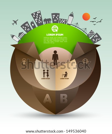 Can use for business cocnept, Education diagram, brochure object. - stock vector
