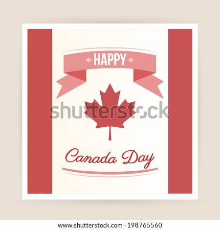 Canada day card - stock vector