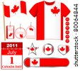 Canada Day. Set of icons and buttons. Vector. - stock vector