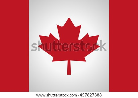 Canada flag red - stock vector