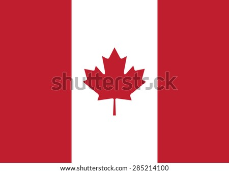 canada flag vector - stock vector