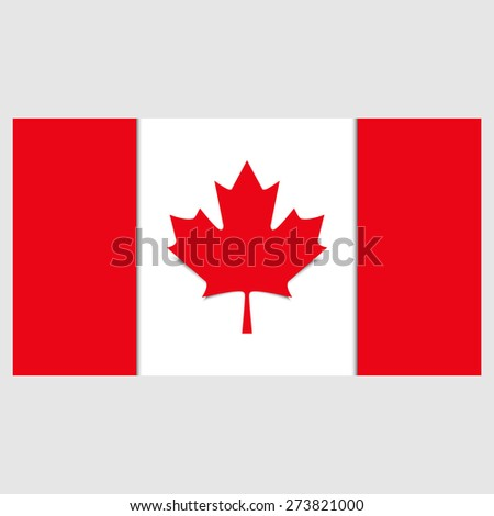 Canada flag, vector graphics, cover, banner, brochure, maple-leaf. - stock vector
