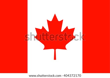 Canada Flag. Vector illustration flag , Symbolic that represent to Canada. For several concept and occasional (National Day,Sport,Currency,Travel,etc.) - stock vector