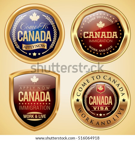 Canada Immigration and Visa badges