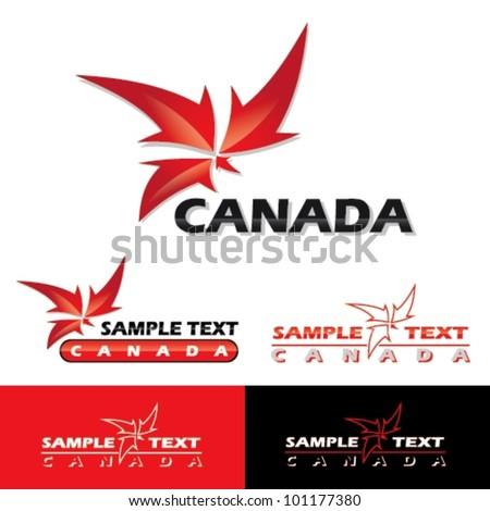 Canada label - vector symbol - stock vector