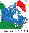 Canada map - stock photo