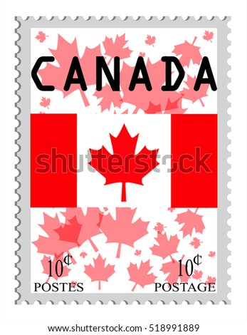 canada postage stamps vector templates stock vector 518991889