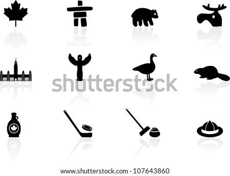 Canada symbols - stock vector