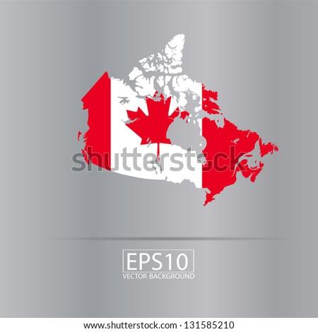 Canada vector flag - stock vector
