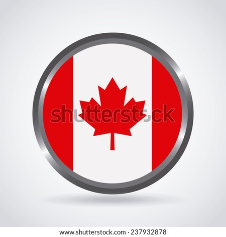 canadian flag - stock vector
