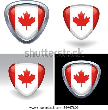 Canadian Flag Crest - stock vector