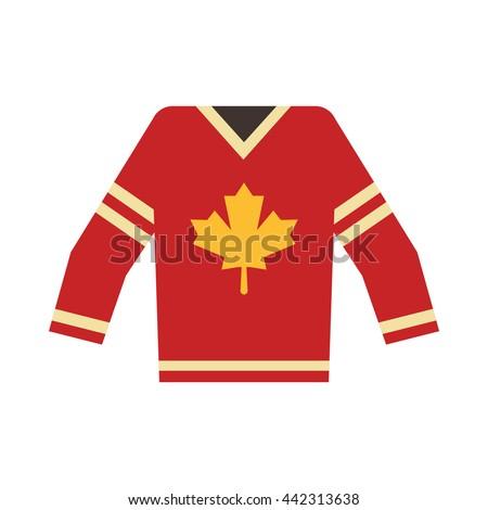 Canadian Hockey Jersey - stock vector