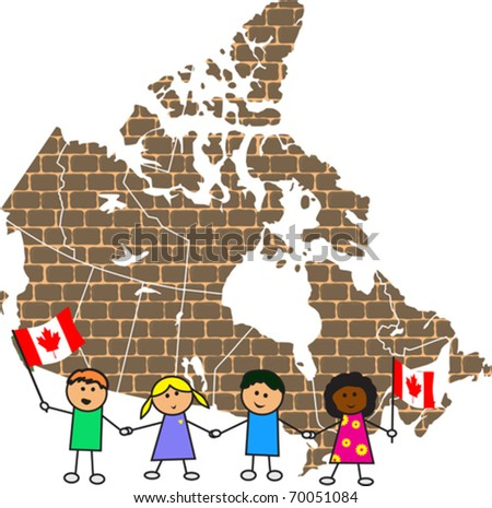 Canadian map - stock vector