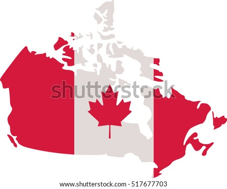 Canadian Map Canada Flag Stock Vector HD Royalty Free 517677703