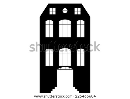 Canal House - stock vector