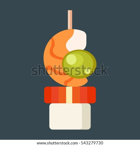 Canape snacks vector illustration stock vector 543279730 for Canape vector download