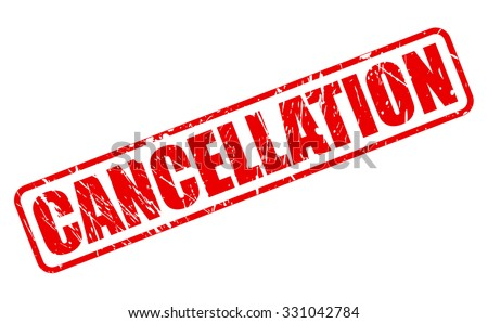 CANCELLATION red stamp text on white - stock vector