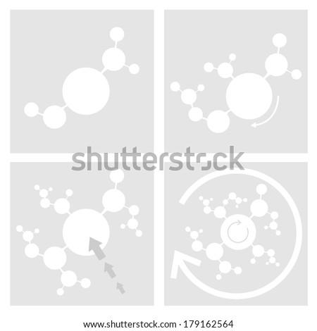 Cancer cells Arrow - stock vector