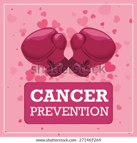 Cancer design over white background, vector illustration. - stock vector