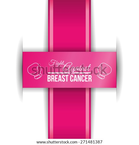 Cancer design over white background, vector illustration.