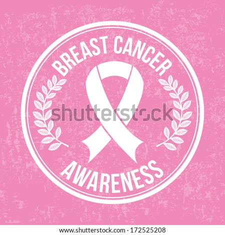 cancer over pink background vector illustration - stock vector