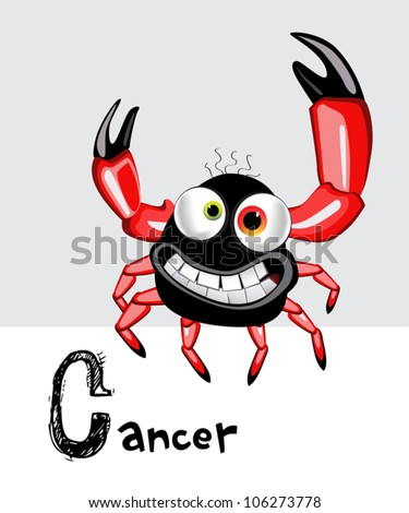 cancer zodiac - stock vector