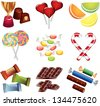 candies photo-realistic vector set - stock vector