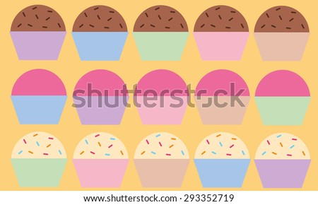 Candies set vector