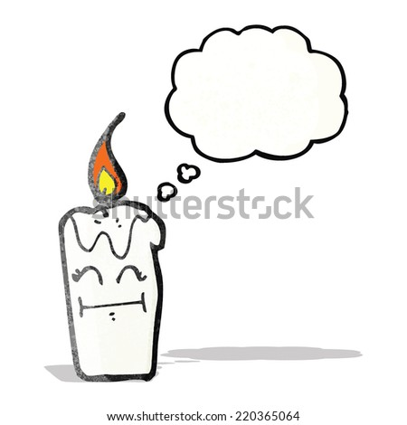 candle cartoon character - stock vector