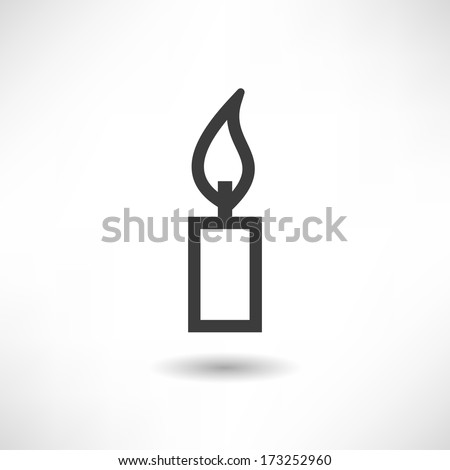 Candle icon - stock vector