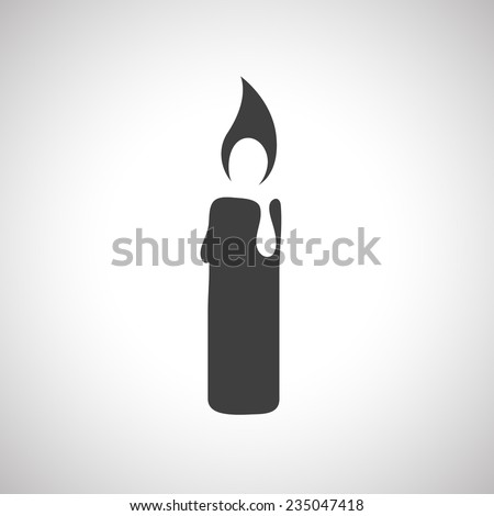 Candle icon - Vector - stock vector