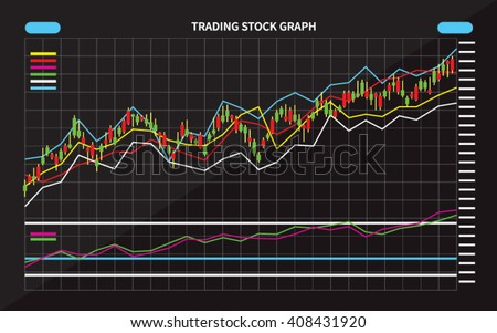 Candle Stick Graph, Stock Market Investment Trading - stock vector